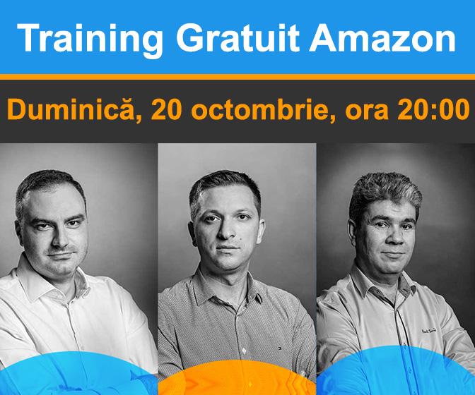 Training Gratuit Amazon - Duminica, 20 octombrie 2019, ora 20:00