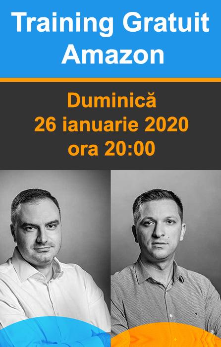 Training Gratuit Amazon - Duminica 26 ianuarie 2020, ora 20:00