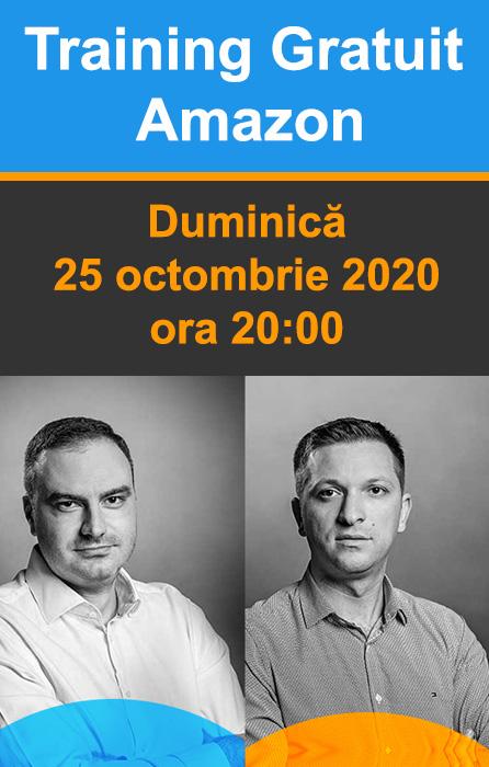 Training Gratuit Amazon - Duminica, 25 octombrie 2020, ora 20:00
