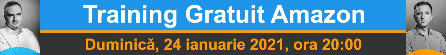 Training Gratuit Amazon - Duminică, 24 ianuarie 2021, ora 20:00