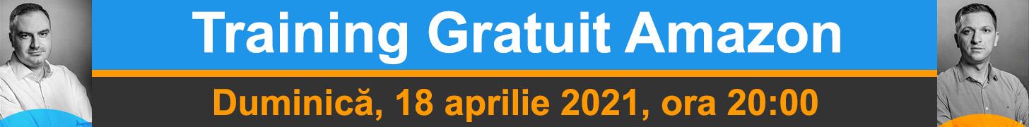Training Gratuit Amazon - 18 aprilie 2021, ora 20:00